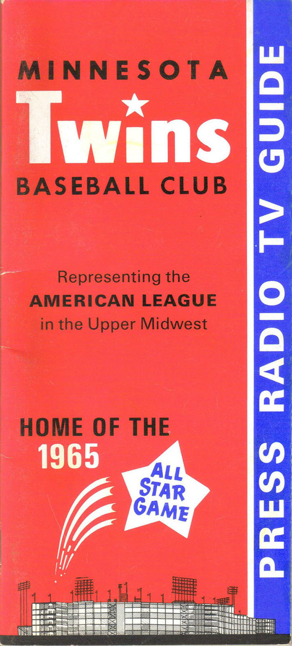 1965 Twins Media Guide