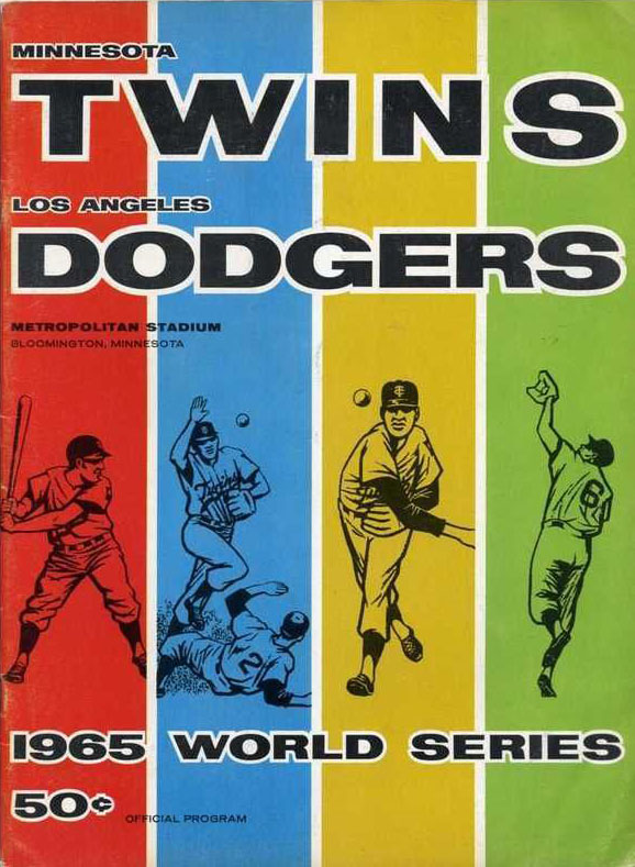 1965 Twins World Series Program