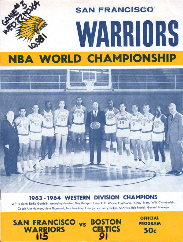 1964 NBA Finals program: San Francisco Warriors vs. Boston Celtics