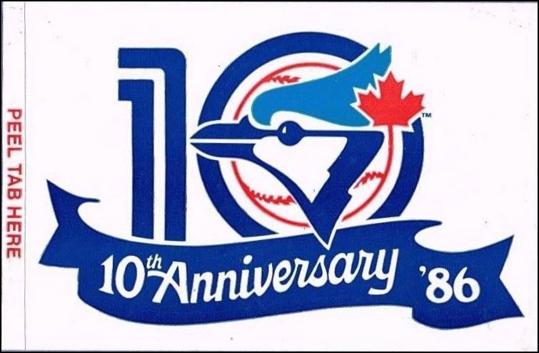 Toronto Blue Jays sticker, 1986