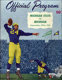 Michigan Wolverines vs. Michigan State Spartans (September 29, 1951)