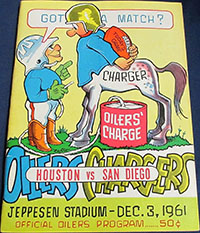 Houston Oilers vs. San Diego Chargers (December 3, 1961)