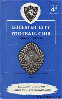 Leicester City vs. West Bromwich Albion (November 30, 1957)