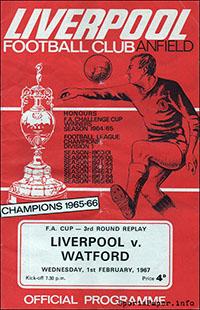 Liverpool vs. Watford (February 1, 1967)