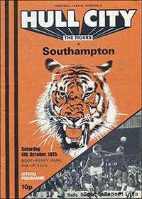 Hull City vs. Southampton (October 4, 1975)