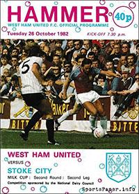 West Ham United vs. Stoke City (October 26, 1982)