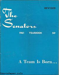 1961 Washington Senators Yearbook
