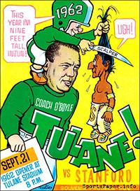 Tulane Green Wave vs. Stanford Indians (October 12, 1962)