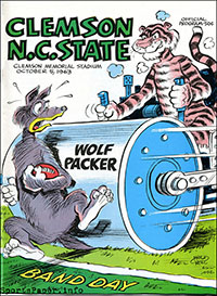 Clemson Tigers vs. NC State Wolfpack (October 5, 1963)