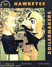 Purdue Boilermakers vs. Iowa Hawkeyes (October 8, 1966)