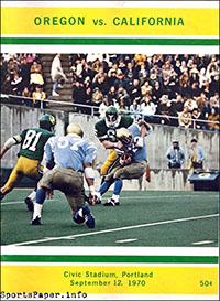 Oregon Ducks vs. California Golden Bears (September 12, 1970)