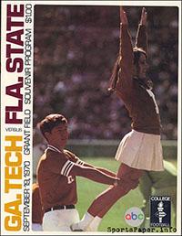 Georgia Tech Yellow Jackets vs. Florida State Seminoles (September 19, 1970)