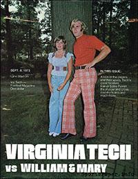 Virginia Tech Hokies vs. William & Mary Indians (September 8, 1973)