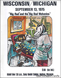 Wisconsin Badgers vs. Michigan Wolverines (September 13, 1975)