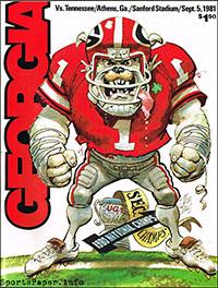 Georgia Bulldogs vs. Tennessee Volunteers (September 5, 1981)