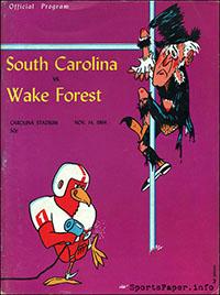 South Carolina Gamecocks vs. Wake Forest Demon Deacons (November 14, 1964)
