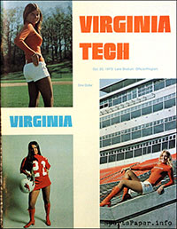 Virginia Tech Hokies vs. Virginia Cavaliers (October 20, 1973)