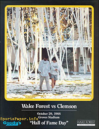 Wake Forest Demon Deacons vs. Clemson Tigers (October 29, 1988)