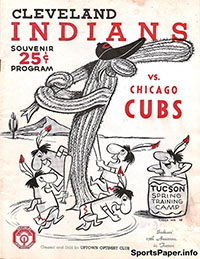 1961 Cleveland Indians Spring Training Scorecard/Program