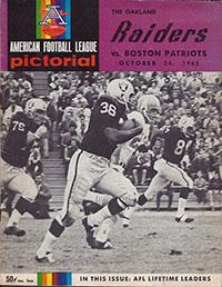 Oakland Raiders vs. Boston Patriots (October 24, 1965)