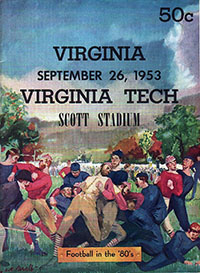 Virginia Cavaliers vs. Virginia Tech Gobblers (#24) (September 26, 1953)