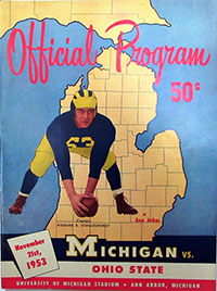 Michigan Wolverines vs. Ohio State Buckeyes (#8) (November 21, 1953)
