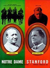 Stanford Indians (#20) vs. Notre Dame Fighting Irish (#9) (October 26, 1963)