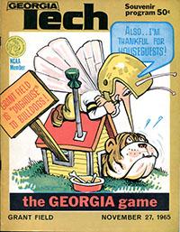 Georgia Tech Yellow Jackets vs. Georgia Bulldogs (#7) (November 27, 1965)