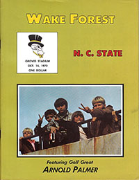 Wake Forest Demon Deacons vs. NC State Wolfpack (#25) (October 14, 1972)