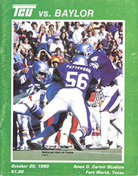 TCU Horned Frogs (#10) vs. Baylor Bears (October 25, 1980)