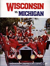 Wisconsin Badgers (#5) vs. Michigan Wolverines (#19) (September 12, 1981)