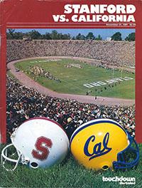 Stanford Cardinals (#20) vs. California Golden Bears (November 21, 1981)