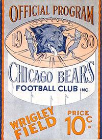 Chicago Bears vs. Green Bay Packers (November 9, 1930)