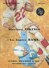Minnesota Vikings vs. Los Angeles Rams (December 3, 1961)