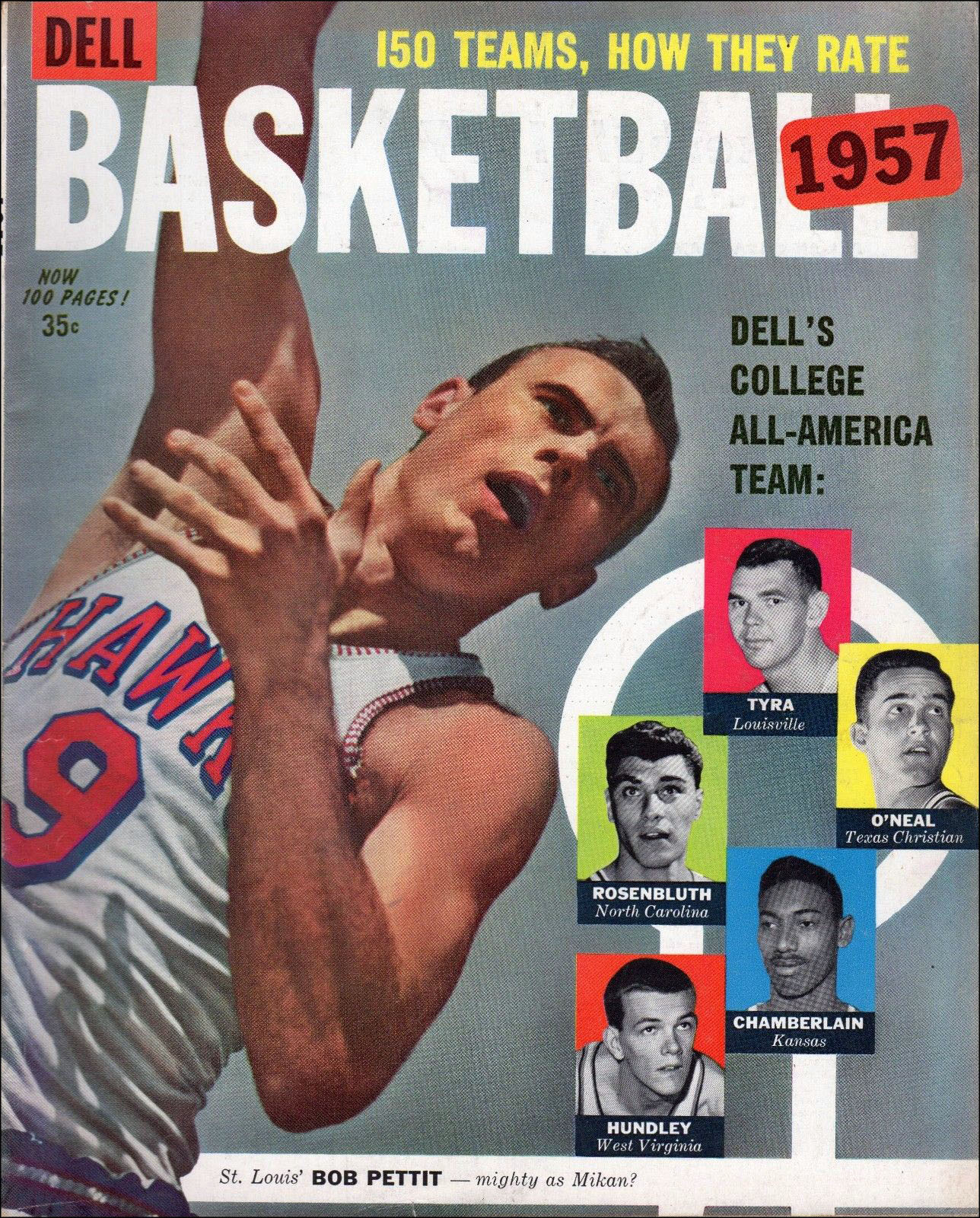 Magazine Rack: Dell Basketball 1957 feat. Bob Pettit