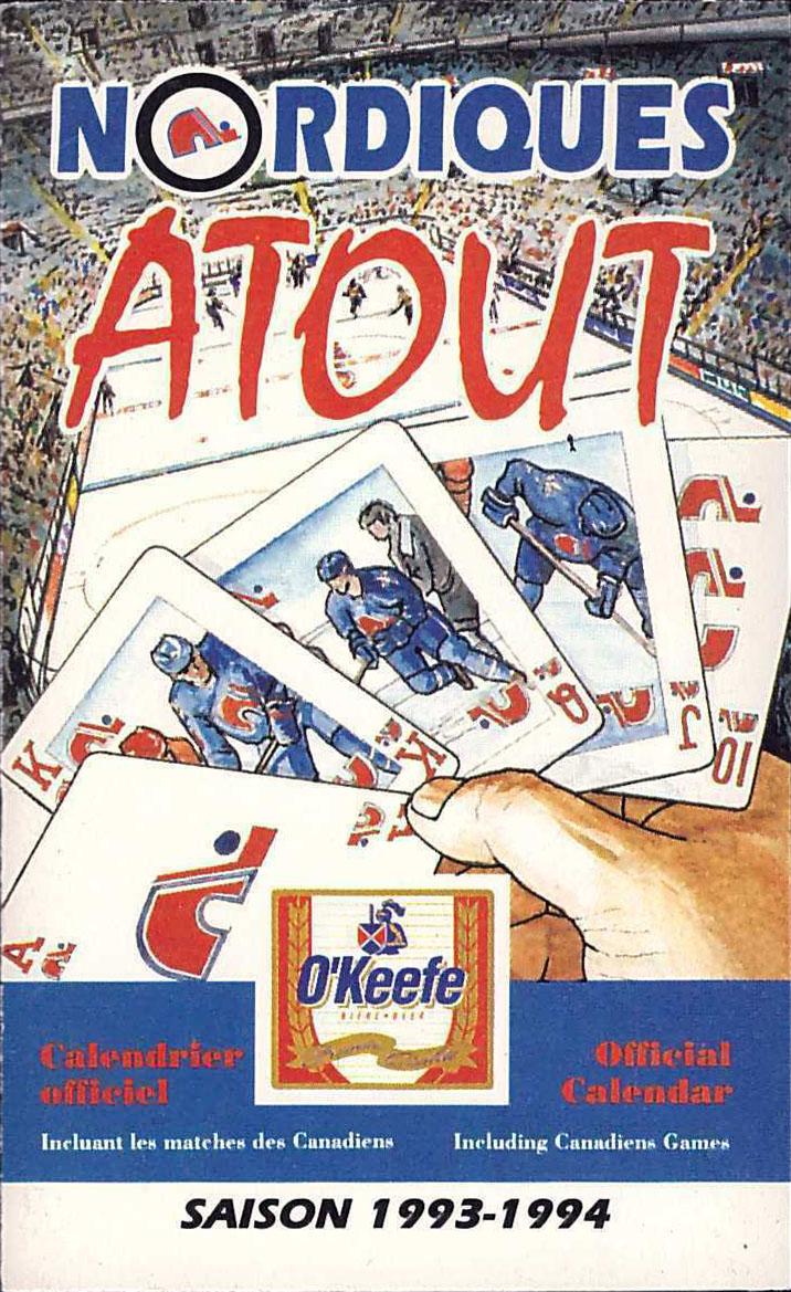 1993-94 Quebec Nordiques schedule