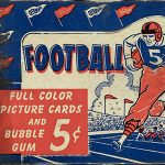 A Trio of 1950s Bowman Football Card Display Boxes