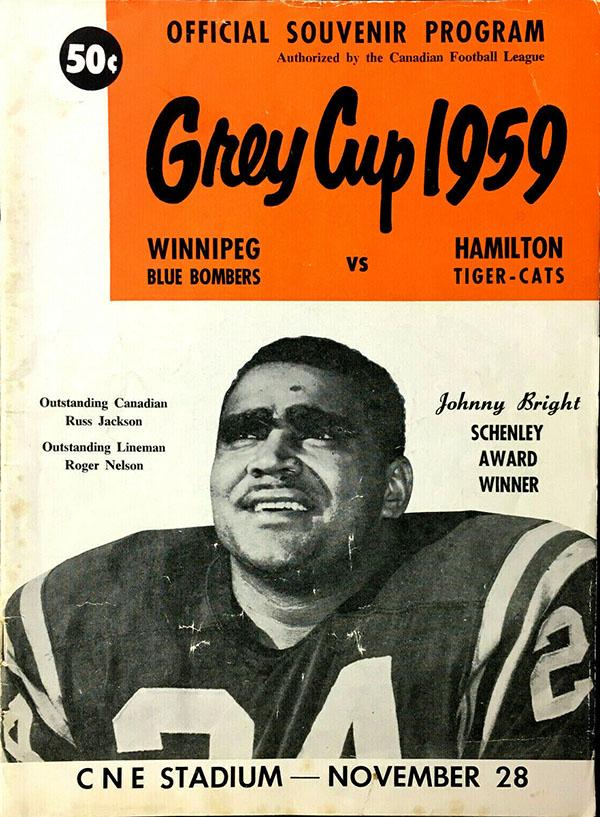 1959 Grey Cup (Winnipeg Blue Bombers vs. Hamilton Tiger-Cats)