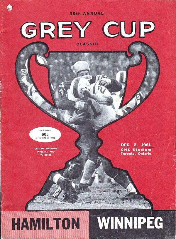 1961 Grey Cup (Winnipeg Blue Bombers vs. Hamilton Tiger-Cats)