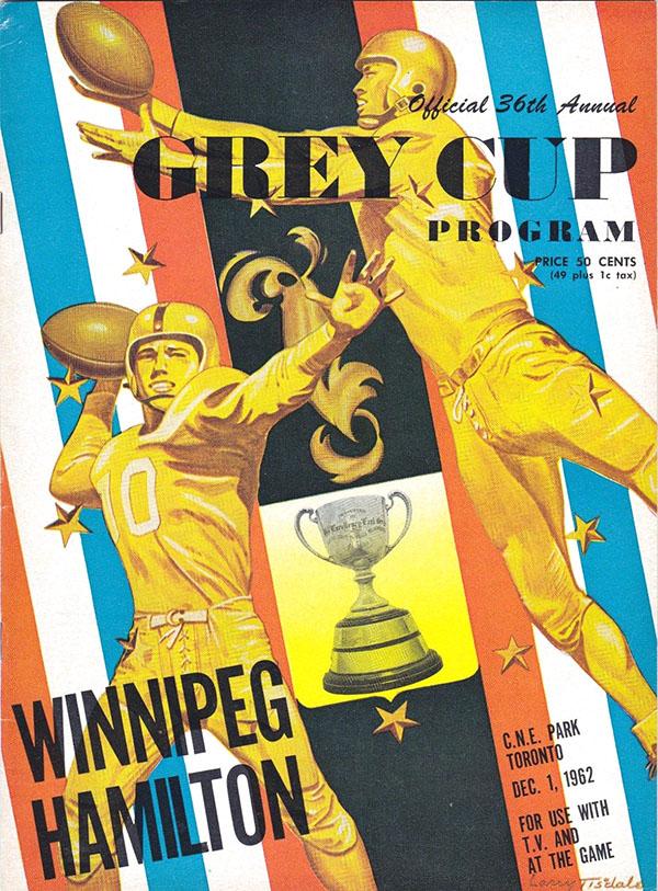 1962 GREY CUP (HAMILTON TIGER-CATS VS. WINNIPEG BLUE BOMBERS)