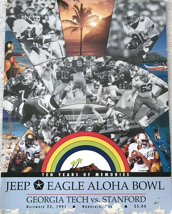 NCAA Bowl Game Program: 1991 Aloha Bowl (Georgia Tech Yellow Jackets vs. Stanford Cardinal)