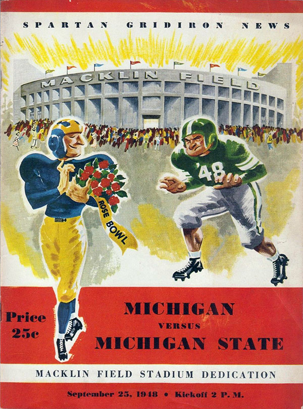MICHIGAN STATE SPARTANS VS. MICHIGAN WOLVERINES (SEPTEMBER 25, 1948)