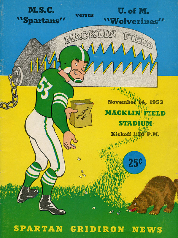 MICHIGAN STATE SPARTANS VS. MICHIGAN WOLVERINES (NOVEMBER 14, 1953)