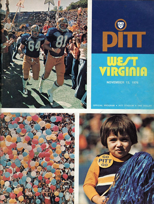 West Coast College >> College Football Program: Pittsburgh Panthers vs. West Virginia Mountaineers (November 13, 1976 ...