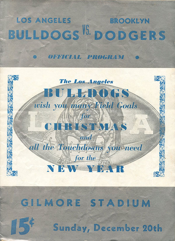 Los Angeles Bulldogs vs. Brooklyn Dodgers (December 20, 1936)