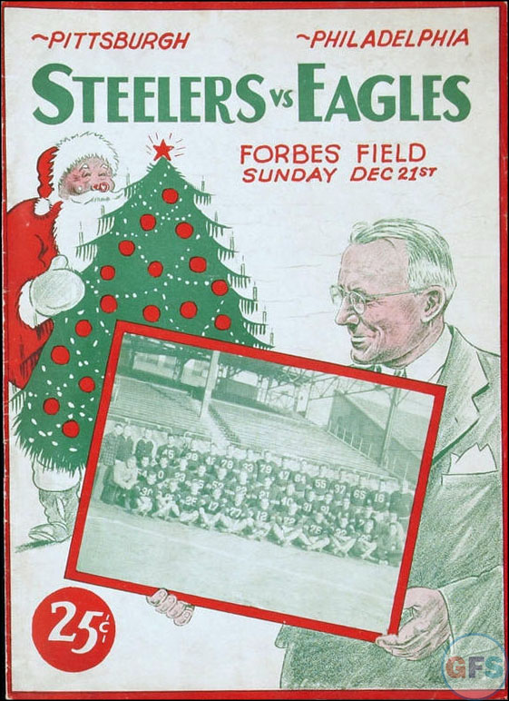 Pittsburgh Steelers vs. Philadelphia Eagles (December 21, 1947) Christmas cover