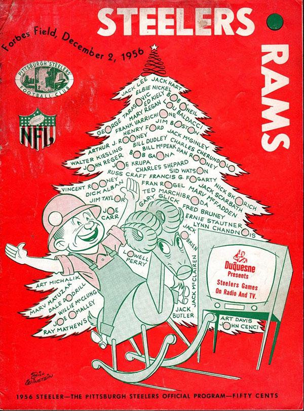 Pittsburgh Steelers vs. Los Angeles Rams (December 2, 1956)
