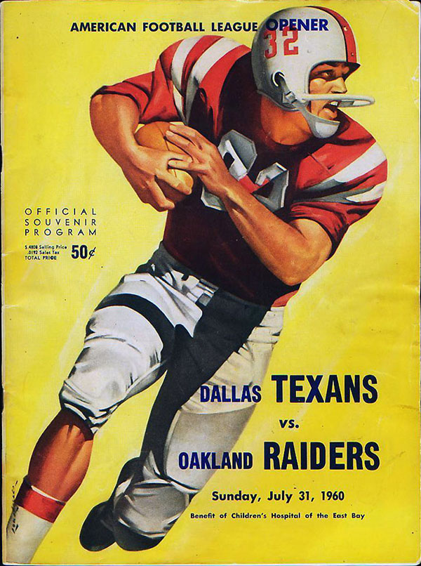 Oakland Raiders vs. Dallas Texans (July 31, 1960)