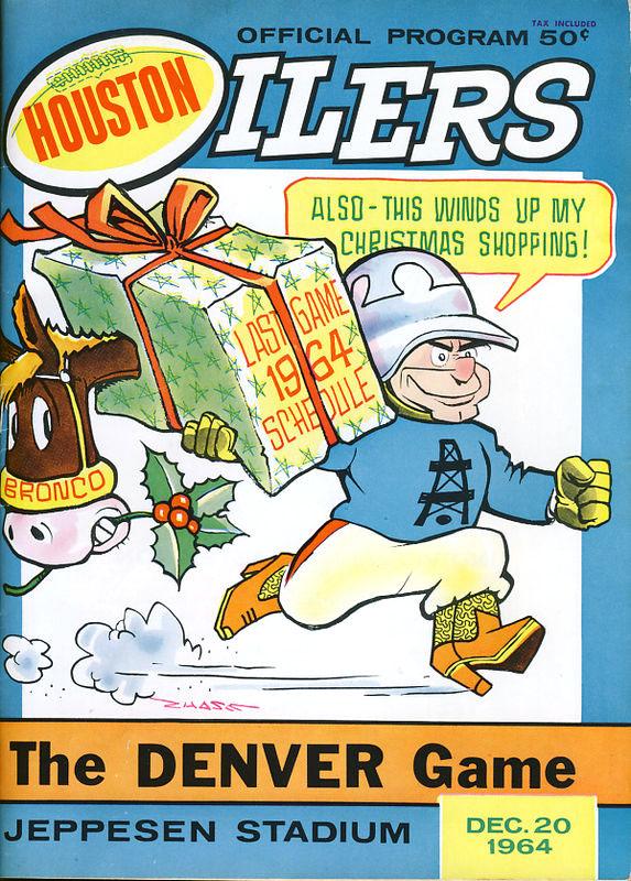 Houston Oilers vs. Denver Broncos (December 20, 1964) Christmas cover