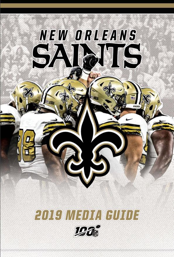NFL Media Guide: New Orleans Saints (2019)
